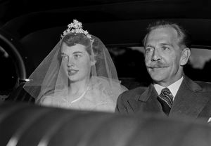 Bride in Veil. Melbourne Wedding Belle, 1954.