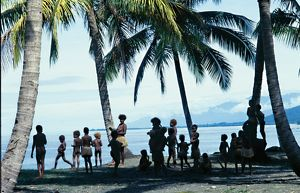 Group of pacific islanders. Taem Bifo Taem Nao - Time Before Time Now, 1980.