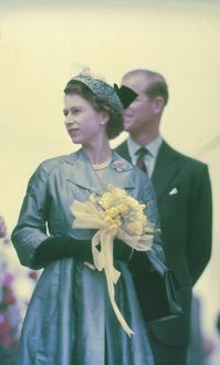 Queen Elizabeth II in Australia, 1958.