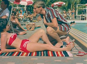 Sunbathing by the pool. From the Tropics to the Snow, 1964.