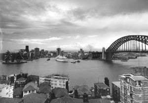A view of Sydney Harbour taken from Kirribilli 1965