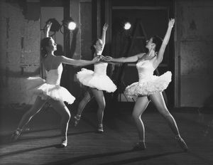 Three ballerinas in white tutus. Across the Frontiers, 1952