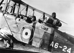 Bert Ive in a Havilland aircraft. Cinema and Photographic Branch, 1920s
