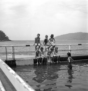 Children swimming. The Water Dwellers, 1967