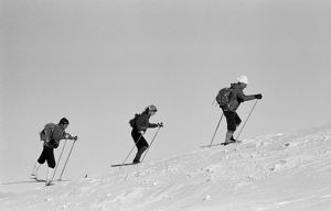 Cross country skiers. Outlook: To Run, 1971