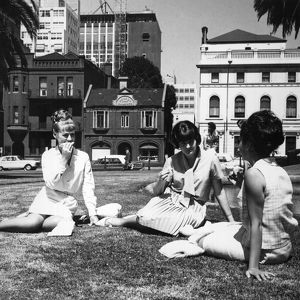 Lunch in the park. Life in Australia Series: Melbourne. 1966