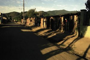 landscape/paraguay village street ghosts may heard 1975