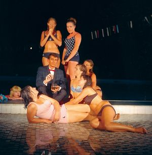 Posing by the pool. Will the Great Barrier Reef Cure Claude Clough?, 1967.