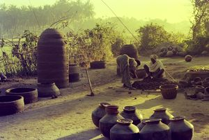 Traditional Indian potters at work. Our Asian Neighbours - India